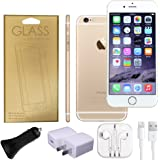 Apple iPhone 6 Factory Unlocked GSM 4G LTE Smartphone (Certified Refurbished) + A-Cell Accessory Pack (Gold, 64)