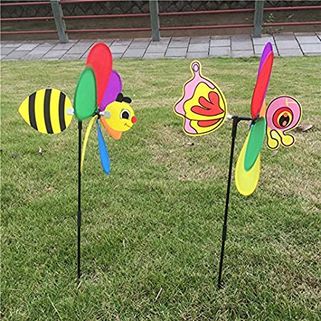 Poity 3D Large Animal Bee Windmill Wind Spinner Whirligig Yard ...