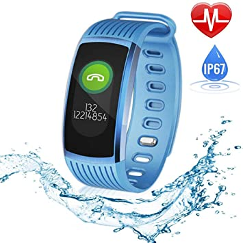 HANG Fitness Tracker, IP67 Pulsera Inteligente con Pantalla a ...