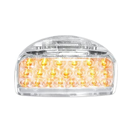 Grand General 77231 Amber 31 LED Peterbilt Headlight Turn Signal Sealed Light With 3 Wires For Front Park Turn Functions And Clear Lens