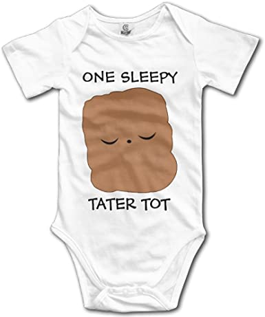 UGFGF-S3 Tired Never Newborn Kids Long Sleeve Romper Jumpsuit Baby Clothes