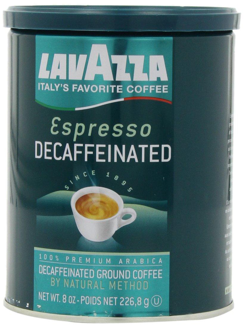 Lavazza Decaffeinated Espresso Ground Coffee, Medium roast, 8-Ounce Cans (Pack of 4)