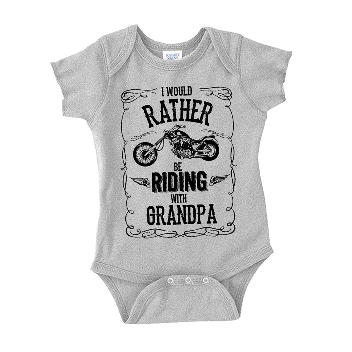 Amazon The Shirt Den I d Rather Be Riding With Grandpa Baby e