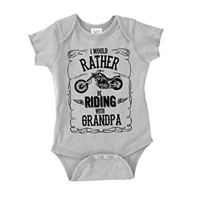 57465f040 Amazon.com: I'd Rather Be Riding with Grandpa Baby One Piece or Toddler  T-Shirt: Clothing