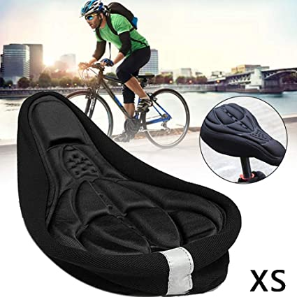 Bike Cycying 3D Gel Saddle Seat Cover Bicycle Silicone Soft Pad Padded Cushion