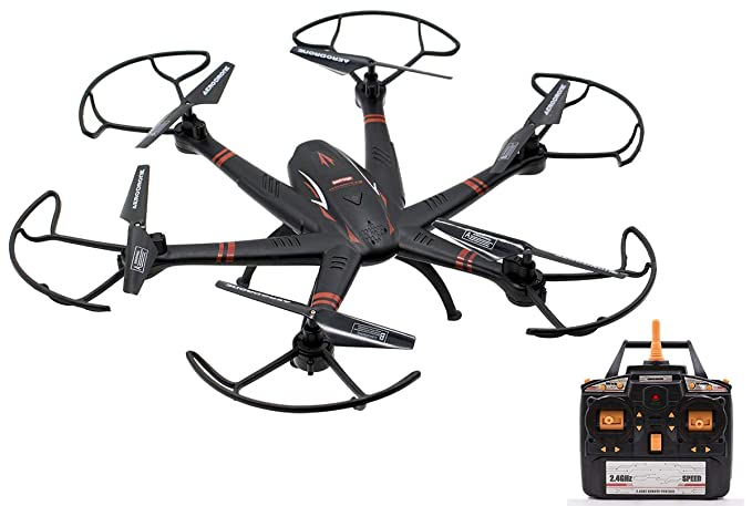Wireless remote control quadcopter drone