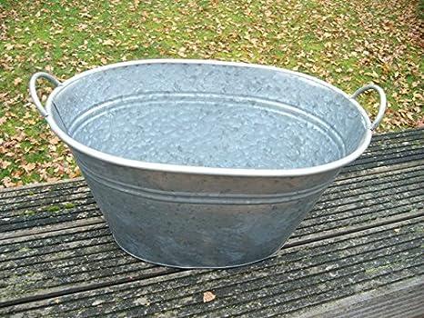 Vasca Da Bagno Di Zinco : Grande zinco vasca vaso zinco bottich vaso di fiori cm