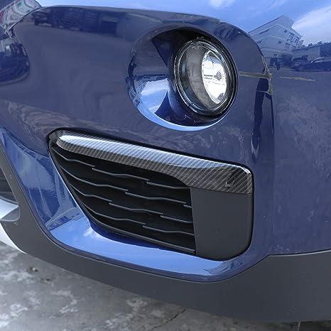 Amazon.com: Car Front Fog Light Lamp Cover Trim Strips 2pcs For BMW New X1 F48 2016-2018 (Carbon Fiber): Automotive
