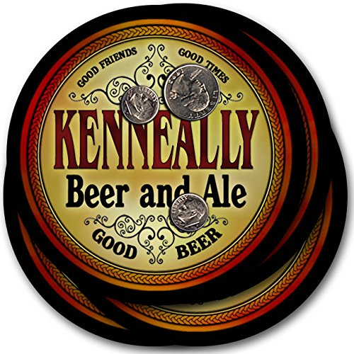 Kenneallyビール& Ale – 4パックドリンクコースター   B003QXBCU0