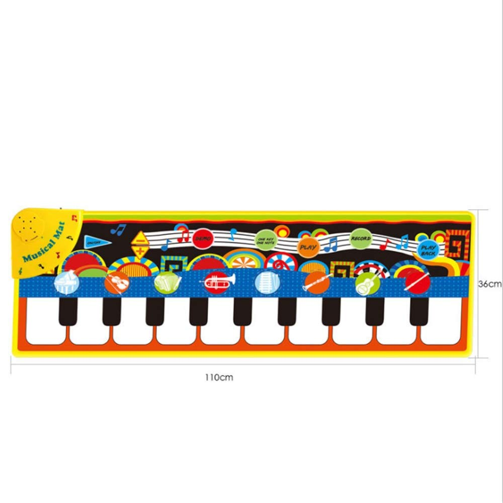 Play Keyboard Mat Electronic Musical Keyboard Playmat 43 Inches 10 Keys Foldable Floor Keyboard Piano Dancing Activity Mat Step And Play Instrument Toys For Toddlers Kids Children's Gift Different Mus by GAOCAN-gq (Image #3)