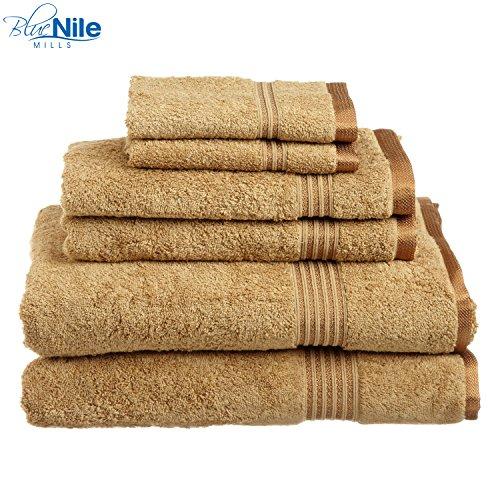 Premium Cotton 6-Piece Towel Set, 2 Bath Towels, 2 Hand Towe