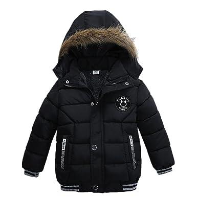 7a313ace5 OVERDOSE Baby Jungen Warm Baumwolle Steppjacke Kapuze Jacke ...