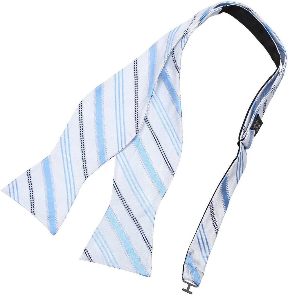 DBA7A12B Navy Green Stripes Bow Tie Microfiber Handsome Goods Self-tied Bow Tie By Dan Smith