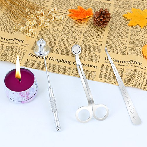 KitchenGynti Candles Snuffer Candle Accessory for Candle Wick Trimmer & Wick Dipper(Silver) ...