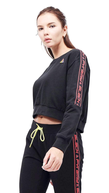 Black Pyramid Womens Moto Long Sleeve Cropped Sweatshirt