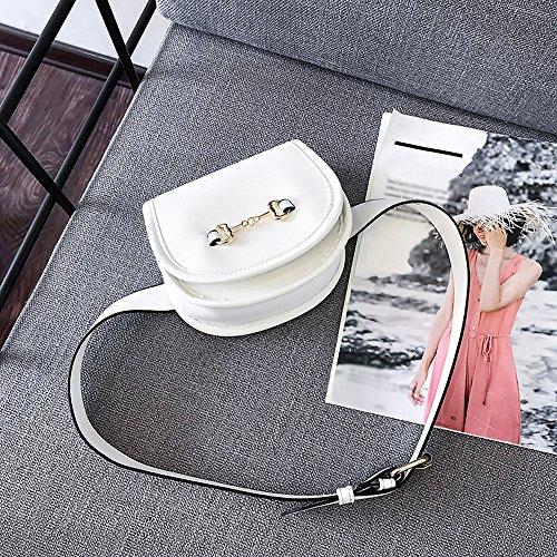 Funky Bag Storage Square Bumbag Waist Leather Holiday Bum Bag Hip Water Pack Pockets Classic Belt Bag Flip Chest Bag White Shoulder Fanny Resistant Cover Travel Z6UwBqZ