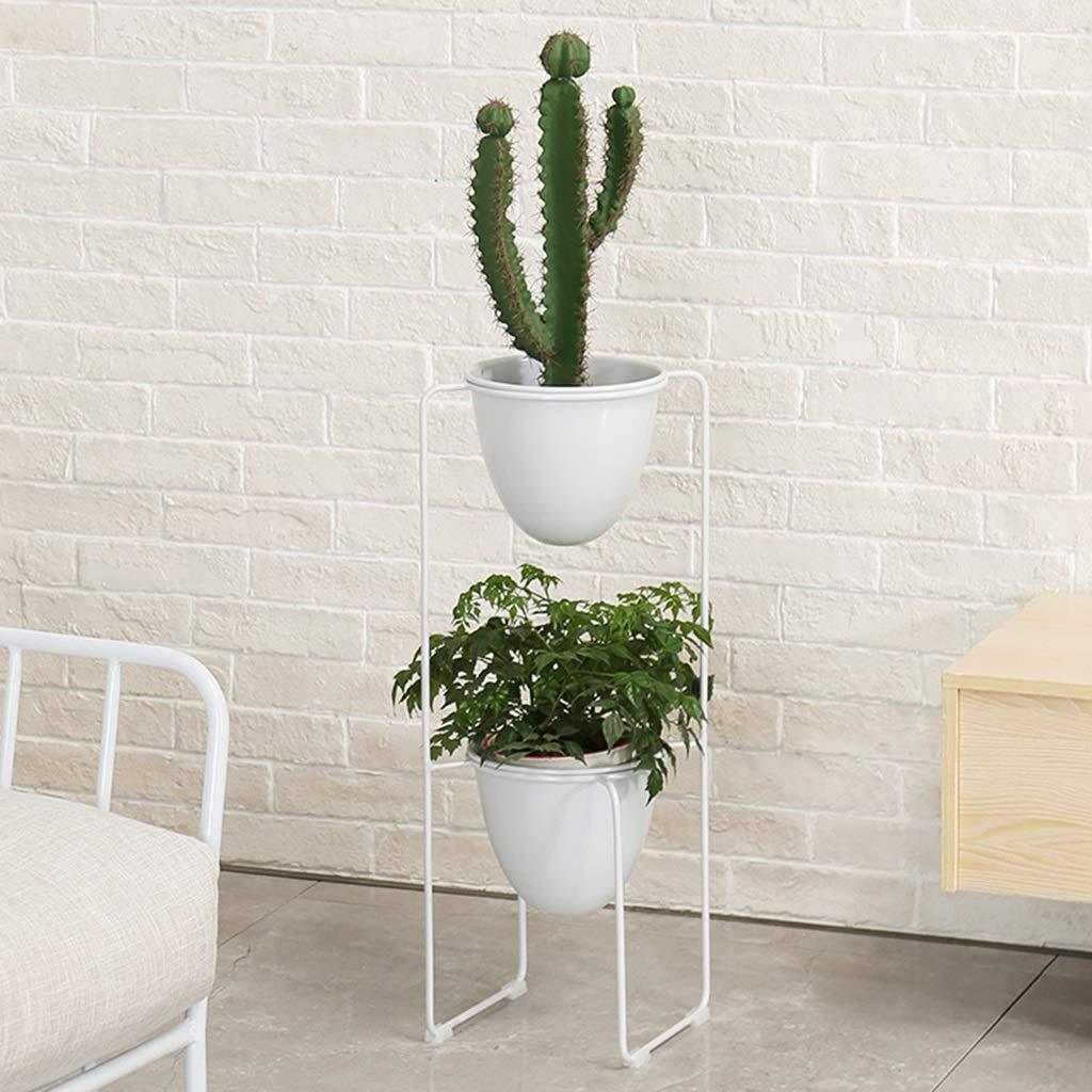 JiuErDP Nordic Living Room Plant Piccolo Vaso di Fiori Ferro battuto Multi-Strato mensola Fiore verde Vaso di Fiori Rack Supporto Fiore Multistrato (colore   Bianca)