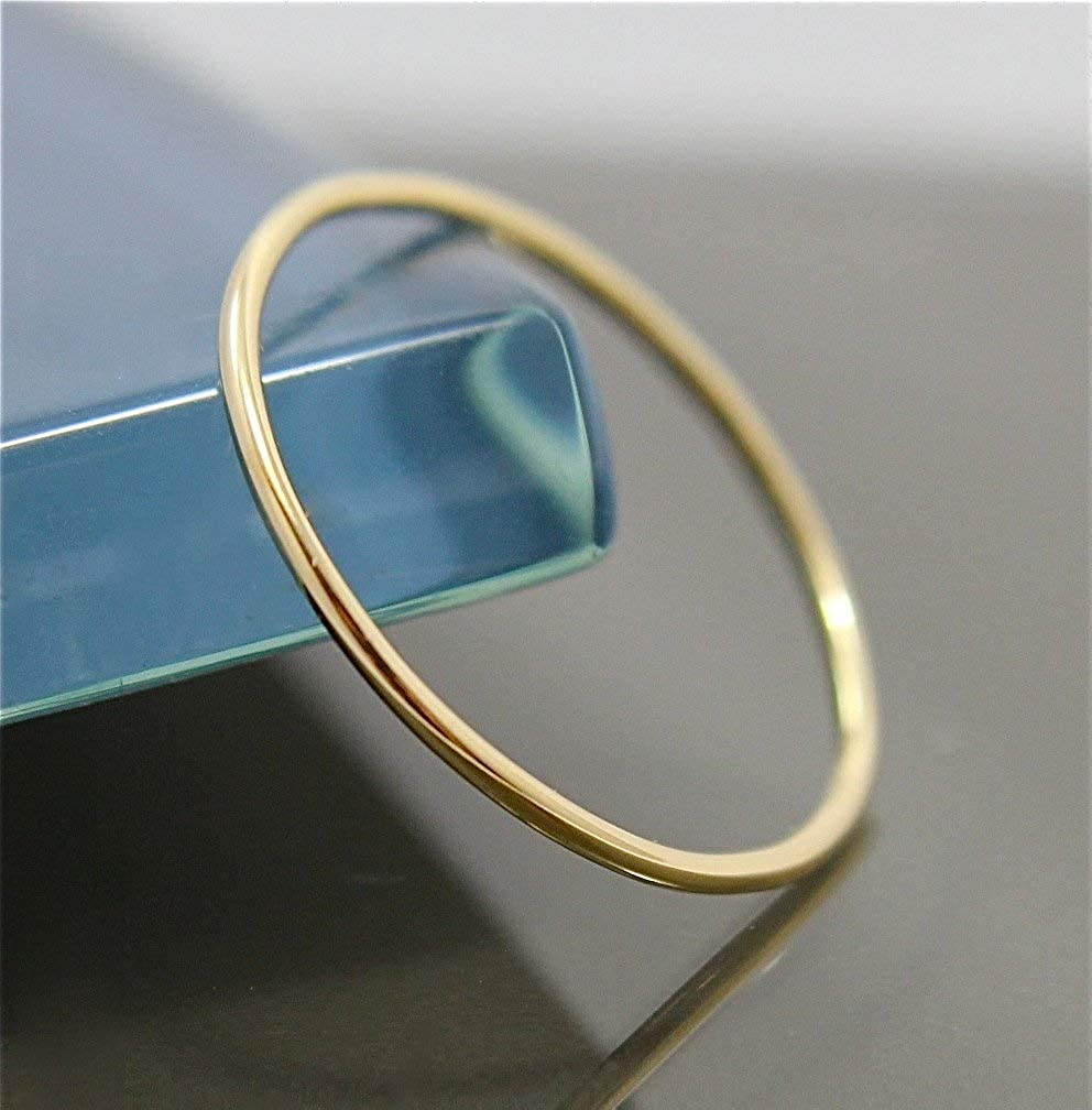 1mm Thin 14k Yellow Gold Wedding Band Ring