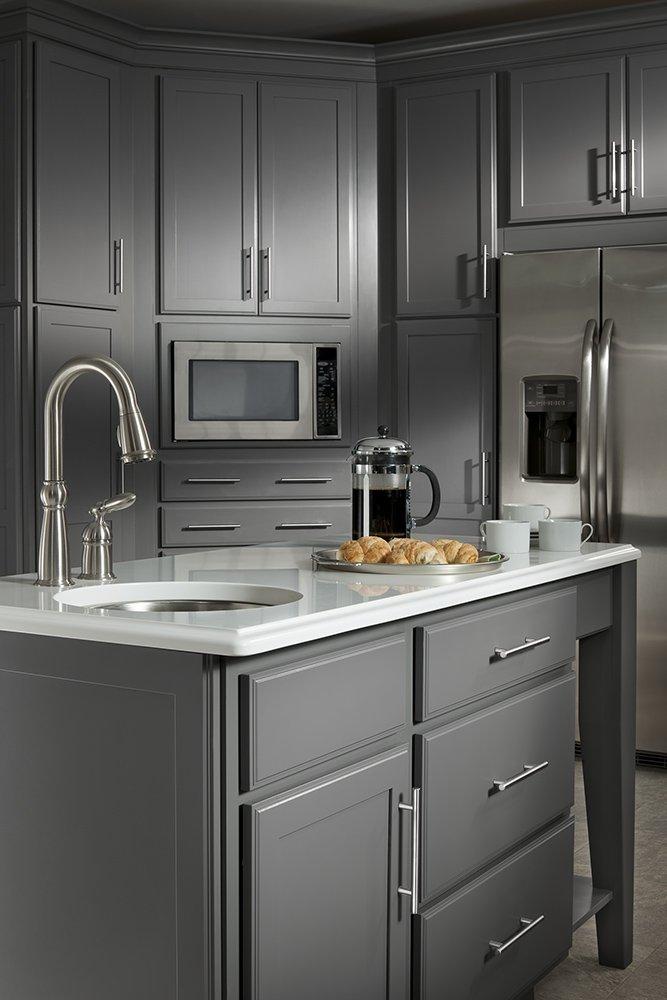 Franklin Brass P15510-SS-B European Steel Bar Style Kitchen Cabinet ...