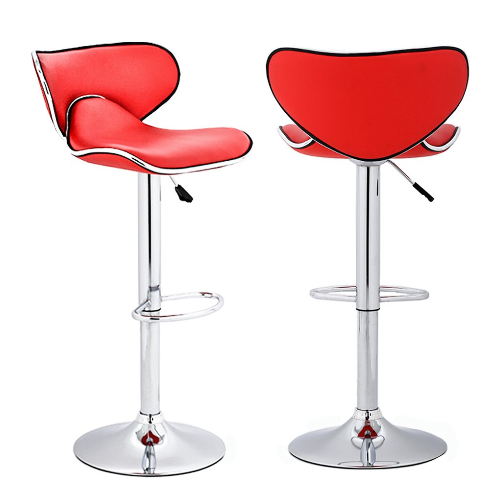 BestMassage Adjustable Height Swivel Bar Stools with Chrome Base Counter Height Stools,Set of 2