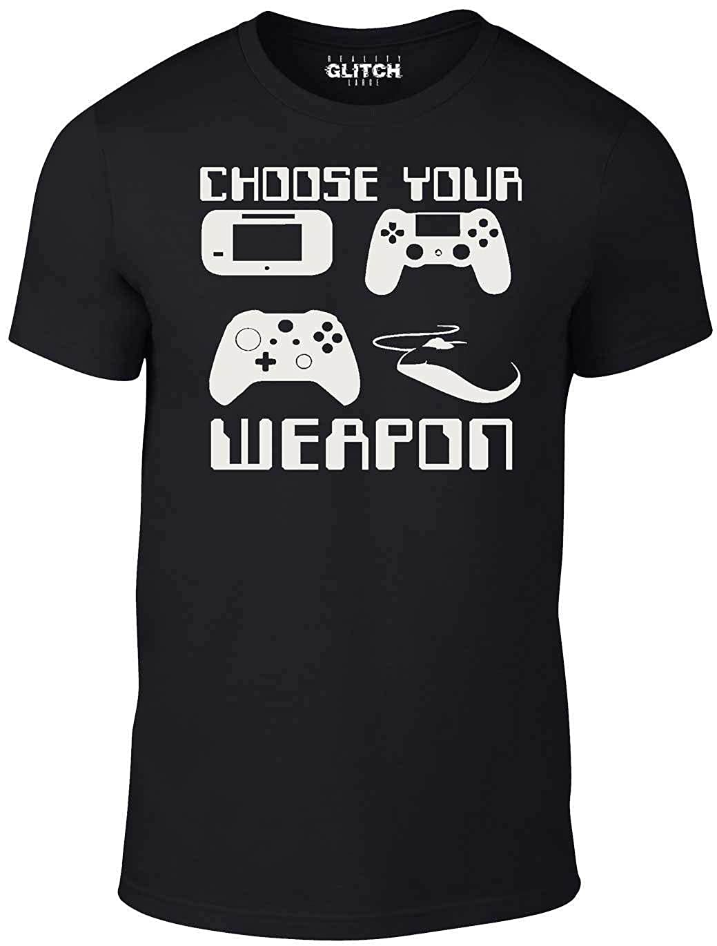 Reality Glitch Choose Your Weapon Gamer Tshirt (blackxx)