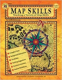 Map Skills Teaching A Variety Of Map Skills Grades Mollie - Us map skills grade 5 instructional fair answers