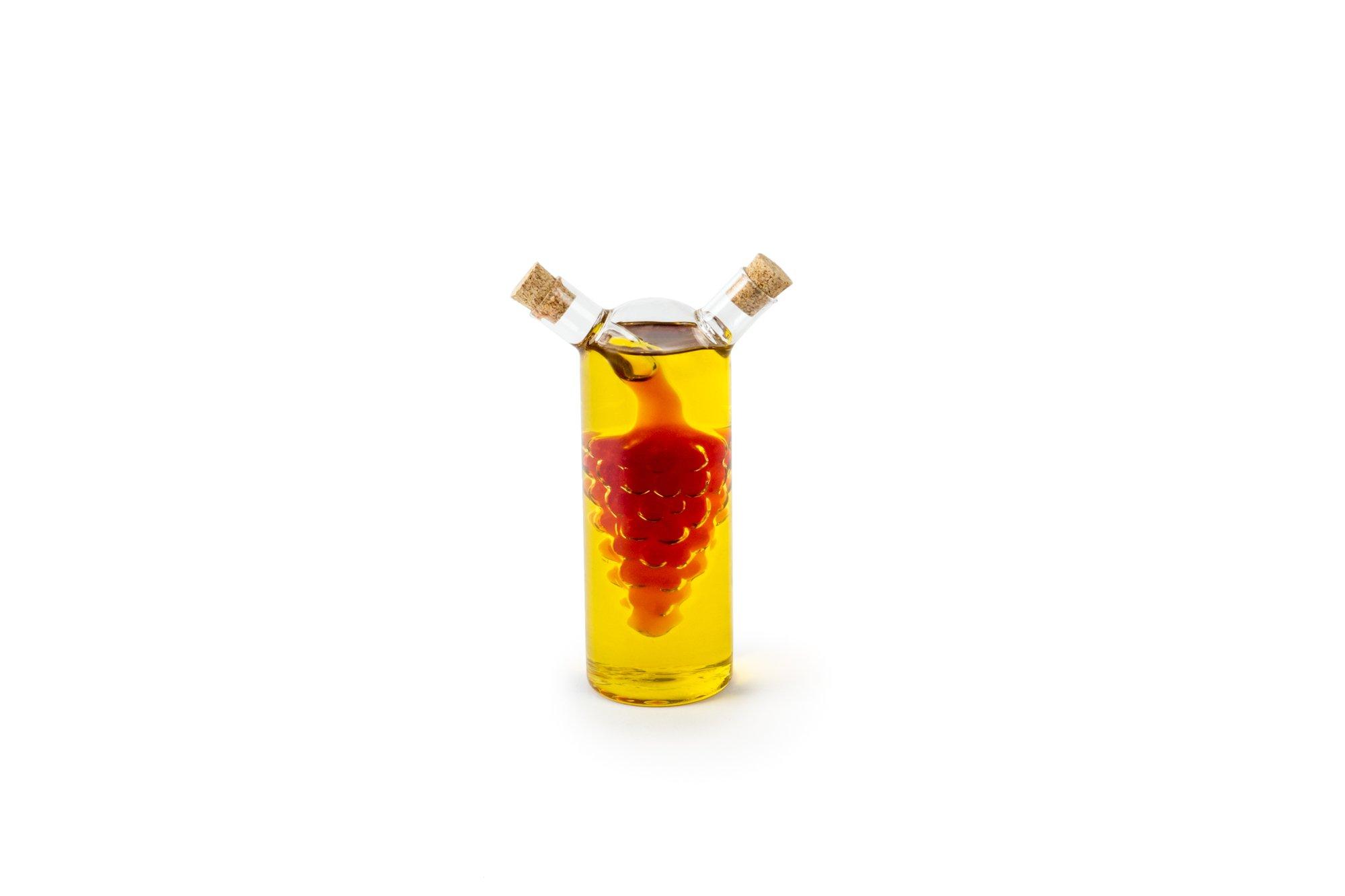 Fox Run 7050 Oil and Vinegar Bottle, Glass, Grape Motif