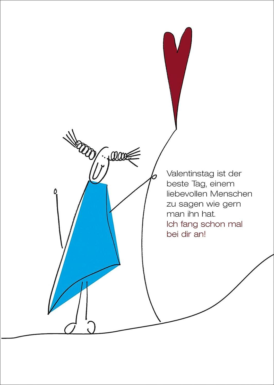 Liebevolle Valentinskarte Mit Herz Für Menschen Die Man Gerne Hat.:  Amazon.de: Küche U0026 Haushalt