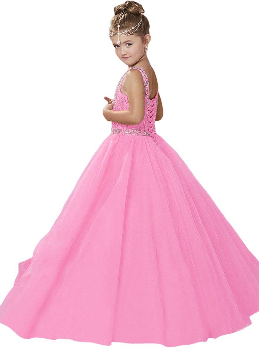 Y & C las Gown niñas 19936 Halter Beads B013HUAR5M Ball Gown parte ...