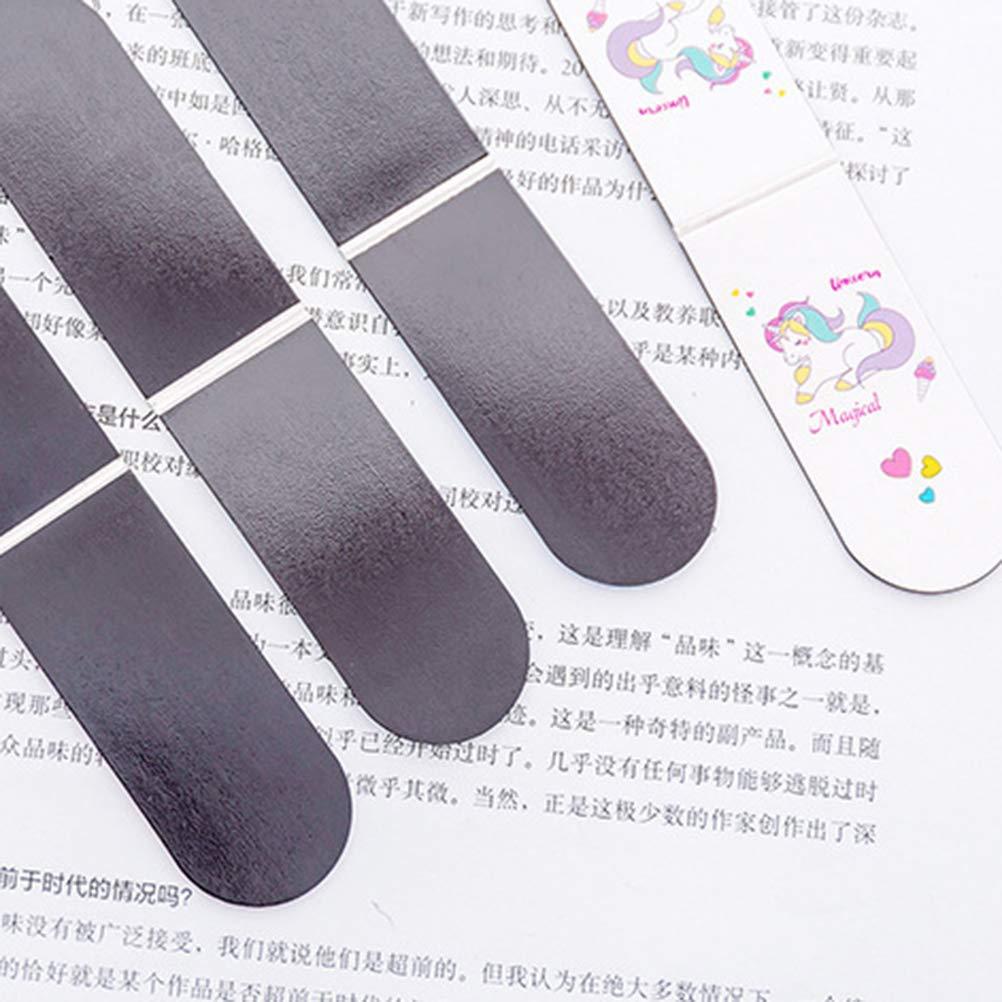 NUOBESTY Graffetta magnetica per segnapunti scuola Unicorno 6 pezzi rosa, verde e blu
