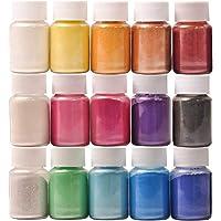 Pigmentos para Resina Epoxi,DEWEL 10g*15 Colores Pigmentos en