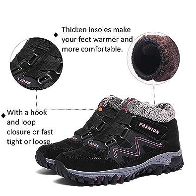 Moodeng Scarpe Donna invernali Stivali da Neve Stivaletti Caldi Foderati Pelliccia Scarpe per inverno Antiscivolo Outdoor Trekking