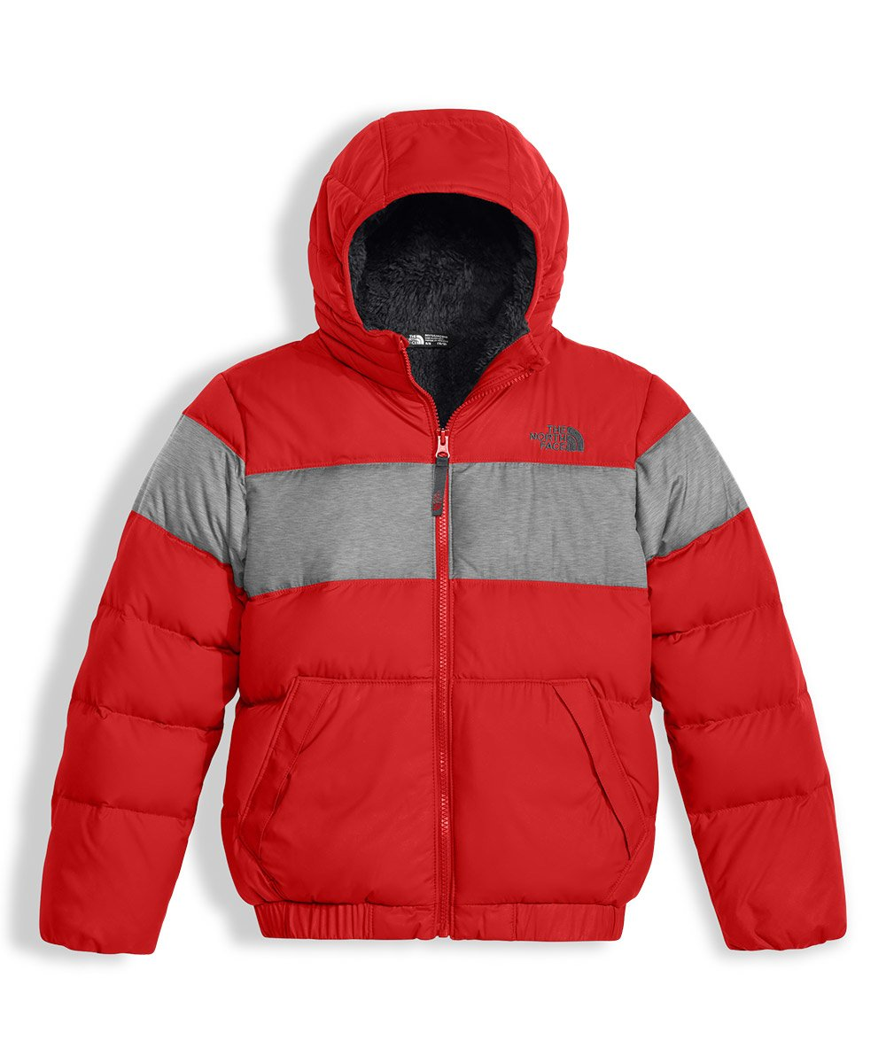 The North Face Big Boys' Moondoggy 2.0 Down Hoodie - tnf red, m/10-12 by The North Face