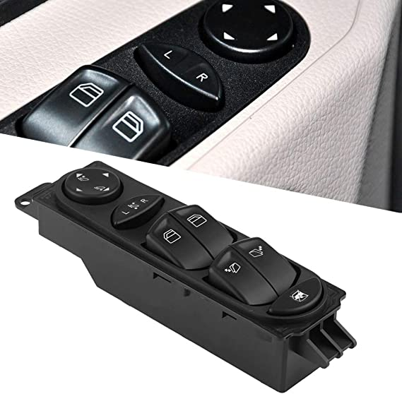 Kimiss Auto Fenster Schalter Fensterheberschalter Schalttafel Spiegel Fenster Master Steuerschalter Electric Power Master Fenster Button Für W639 Auto