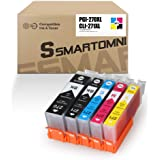 S SMARTOMNI Compatible Ink Cartridge Replacement for Canon PGI-270XL CLI-271XL Ink Color 5-Pack (2K/1C/1M/1Y) Set for Canon Pixma TS6020 TS9020 TS5020 TS8020 MG7720 MG6821 MG5720 MG6820 Printer
