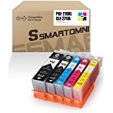 S SMARTOMNI Compatible Ink Cartridge Replacement for Canon PGI-270XL CLI-271XL Ink Color 5-Pack (2K/1C/1M/1Y) Set for Canon P