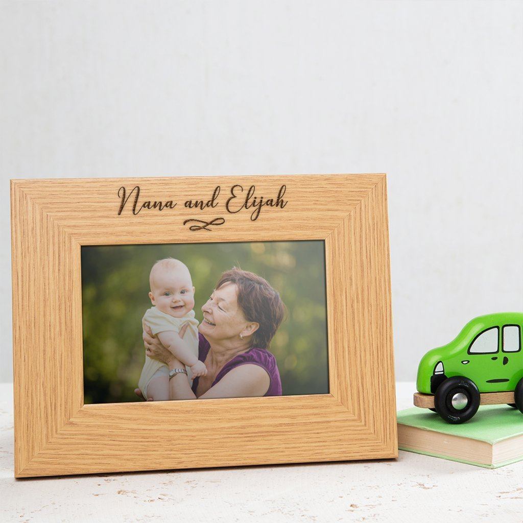6x4 7x5 8x6 Personalised Wooden Nan photo frame//Nan Gifts from Grandchildren//Best Nan gifts//engraved photo frame birthday gift