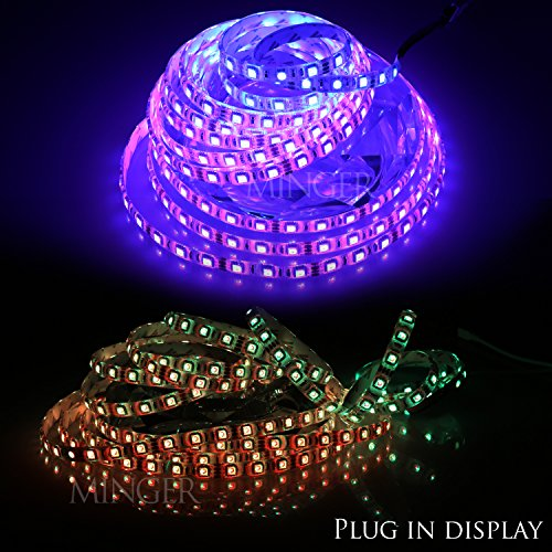 Minger Waterproof LED Strip Light 16.4ft/5m 300leds RGB