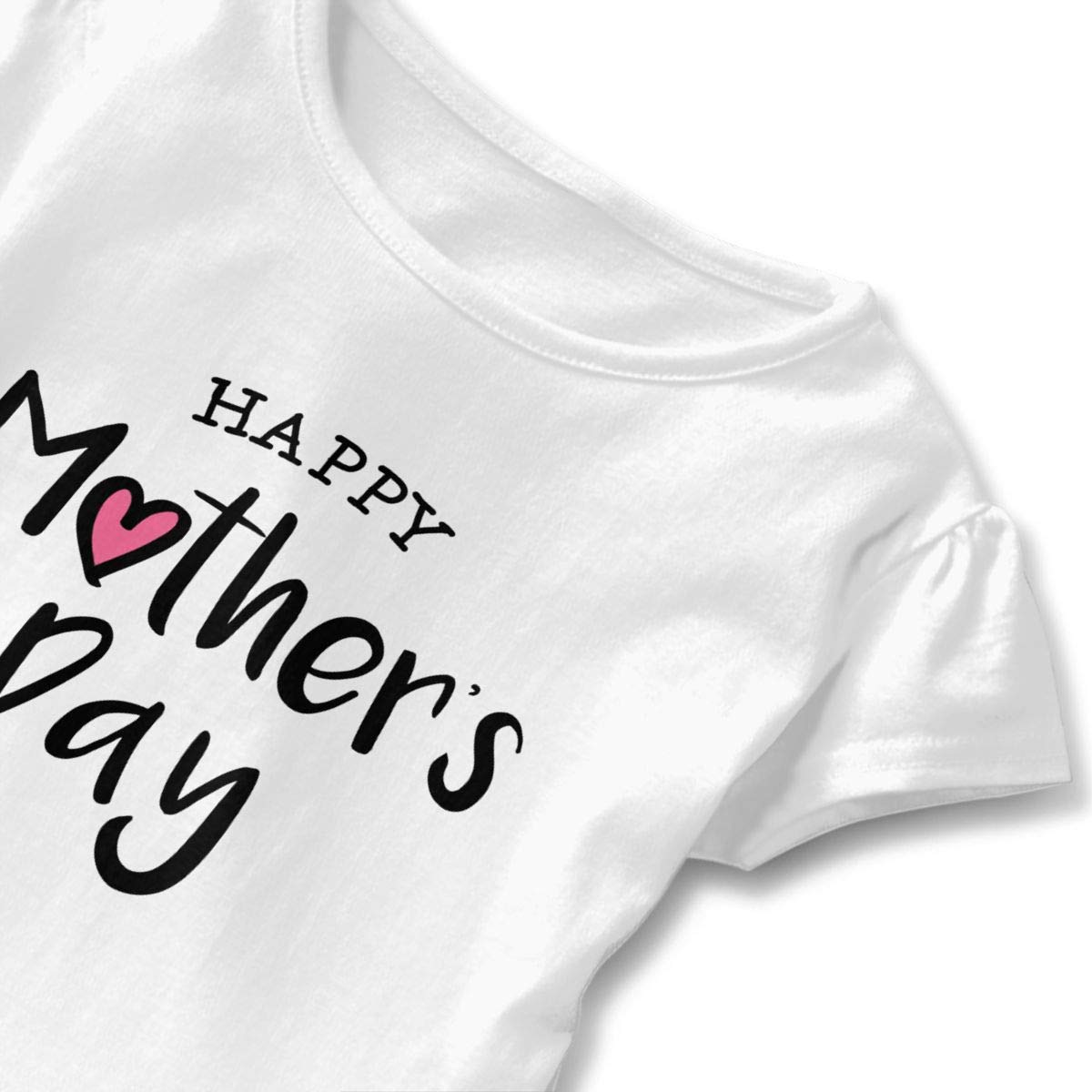 Happy Mothers Day Shirt Fashion Baby Girls Flounced T Shirts Graphic T-Shirt for 2-6T Baby Girls