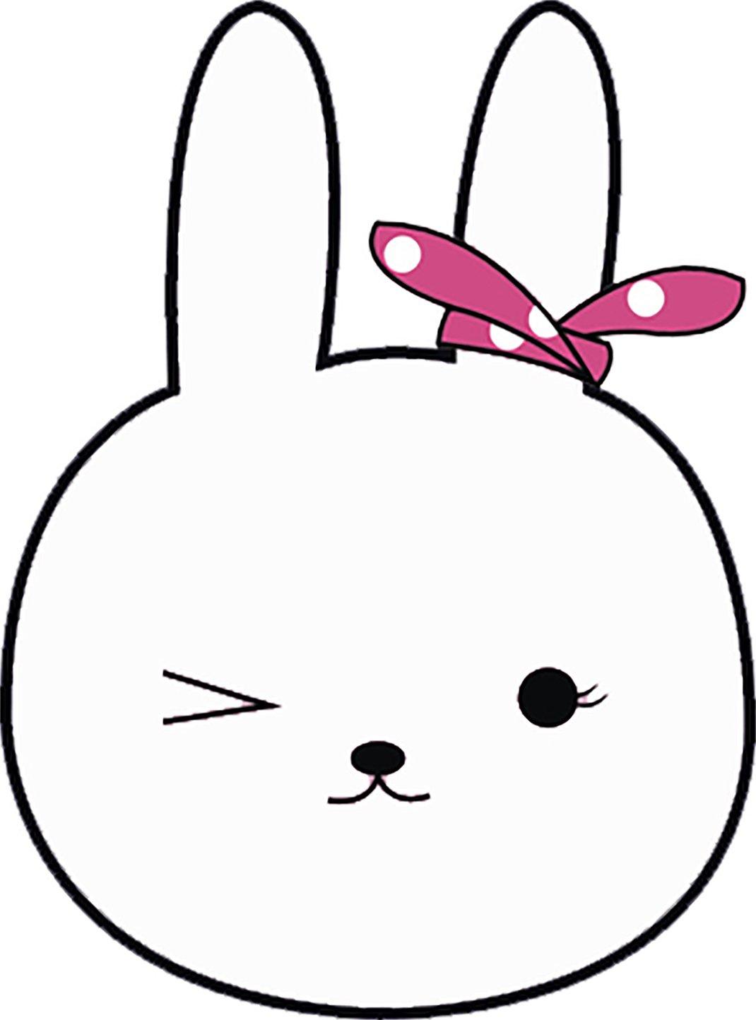 Amazon com cute pretty kawaii bunny rabbit drawing cartoon vinyl decal sticker 4 tall 2 automotive