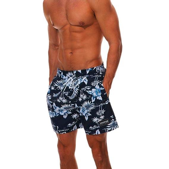 Yvelands Swimwear Mens V-Neck Fashion Personalit Surf ...