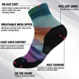 HUSO Wicking Athletic Socks, Junior's Colorful
