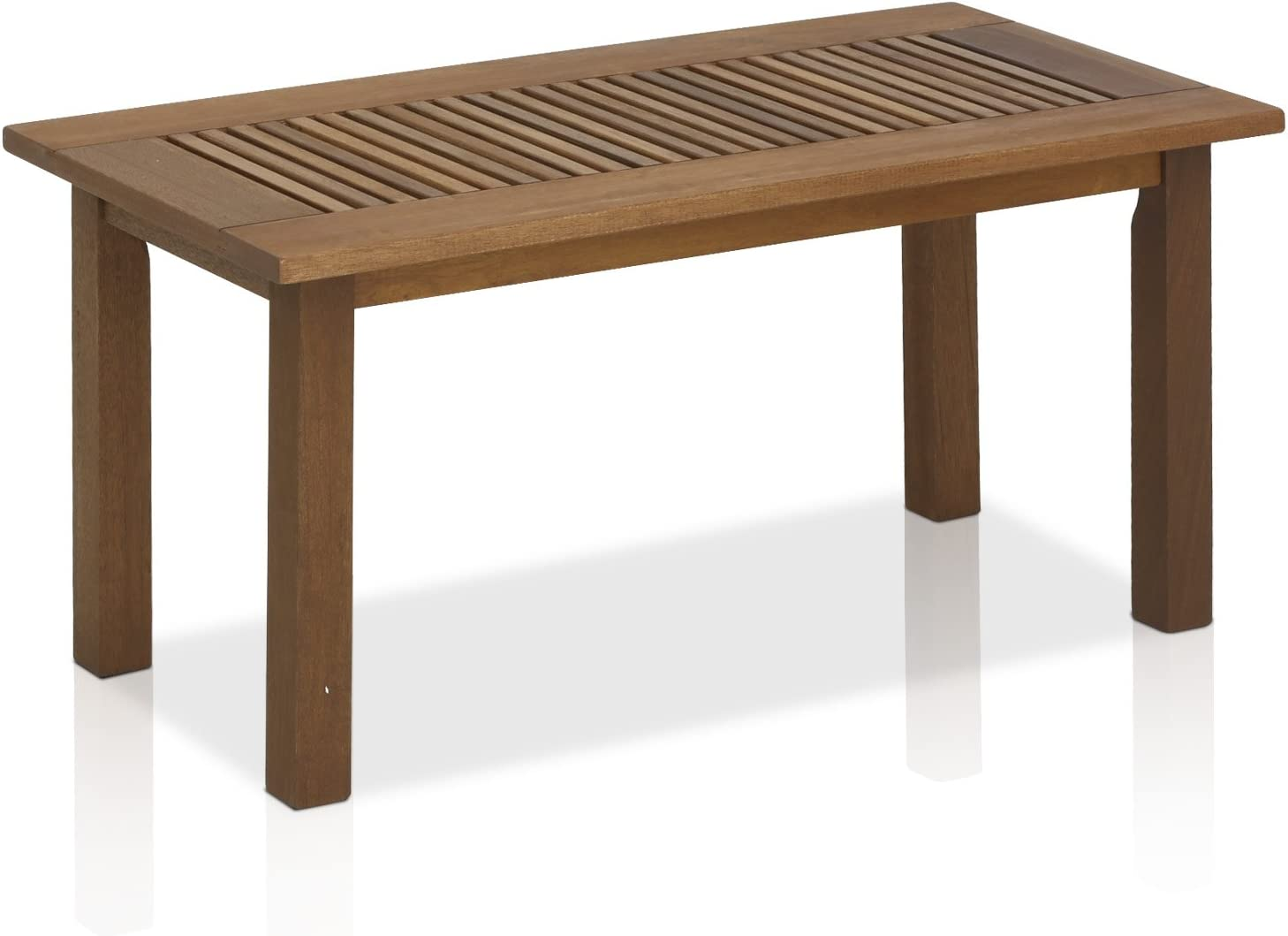 Furinno FG16504 Tioman Hardwood Patio Furniture Outdoor Coffee Table in Teak Oil, 1-Tier, Natural : Garden & Outdoor