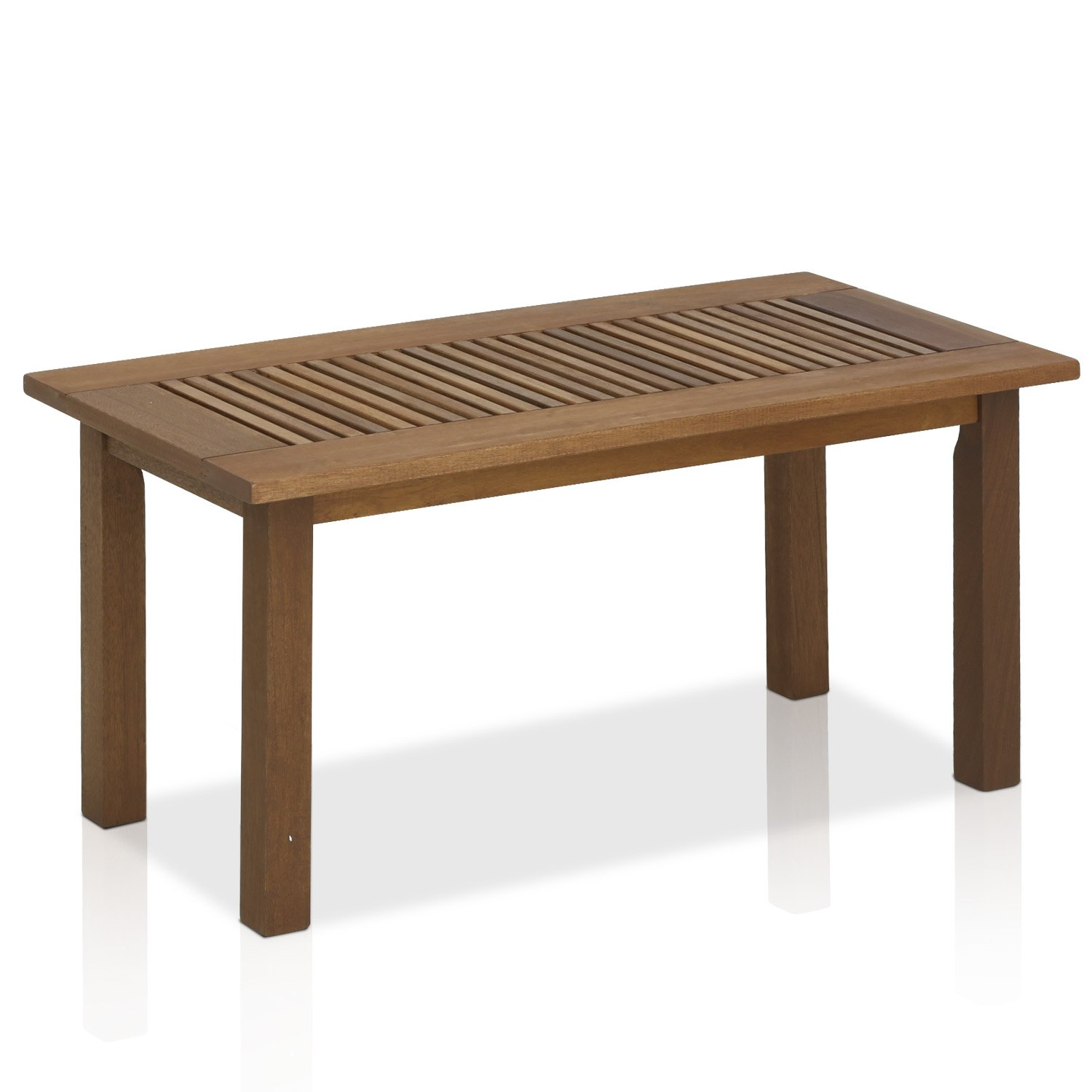 Amazon com furinno tioman hardwood outdoor coffee table in teak oil garden outdoor
