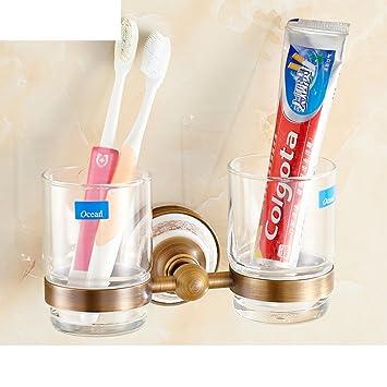 porcelana Continental cepillo de dientes portavasos/estante de lavado Tumbler/Taza de cerámica de la antigüedad-B: Amazon.es: Bricolaje y herramientas