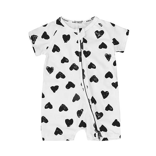 e11a781f4 Winsummer Baby Boy Girl Summer Short Sleeve Pajama Zipper Bodysuit Romper  Infant Toddler Jumpsuit Shorts Outfits