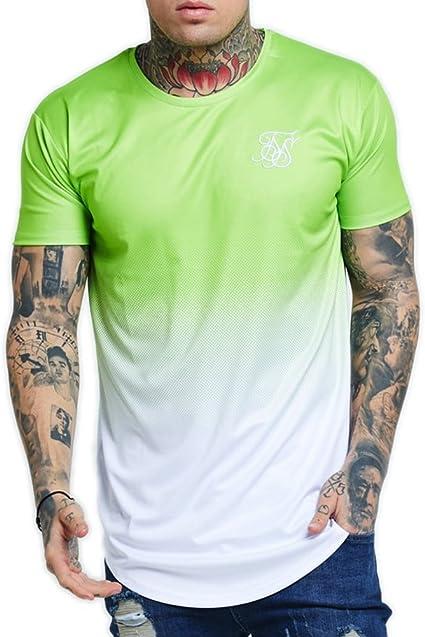 Sik Silk Neon Fade Camiseta Hombre Verde XL (X-Large): Amazon.es: Ropa y accesorios