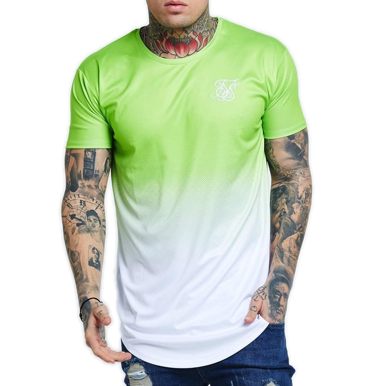 Small Sik Silk Neon Fade Camiseta Hombre Verde S