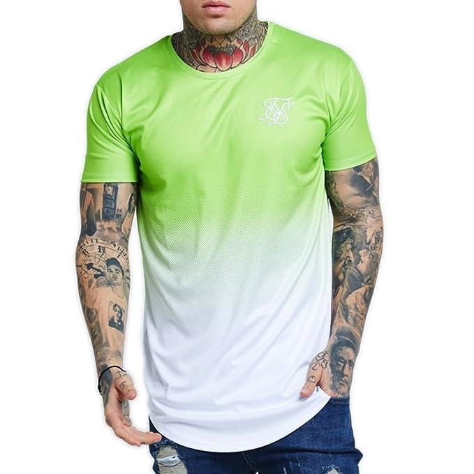 Camiseta Siksilk – Neon Fade Verde/Blanco Talla: M (Medium)