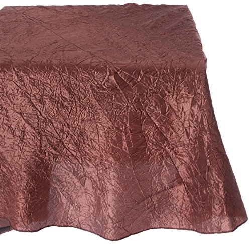 LinenTablecloth Rectangular Crinkle Taffeta Tablecloth, 90 x 156, Chocolate - Tablecloths feature unique, crinkle texture Serged edge for a stylish look Features rounded edges to prevent puddling - tablecloths, kitchen-dining-room-table-linens, kitchen-dining-room - 617MDtUIdfL -